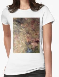 Scribbles on gold and copper Womens Fitted T-Shirt
