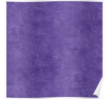 Ultra Violet Oil Pastel Color Accent Poster