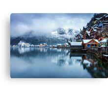 Winter in Hallstatt, Austria Canvas Print