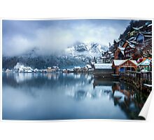 Winter in Hallstatt, Austria Poster