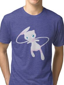 Mew Pokemon Simple No Borders Tri-blend T-Shirt
