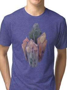 Dark Watercolor Crystals Tri-blend T-Shirt