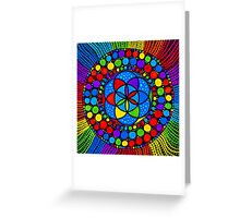 Sacred Geometry - Wheel Of Fortune Greeting Card