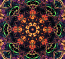 """On the Edge of Reason"" (Earth Tones) - Geometric Abstract Mandala  Sticker"