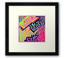 Abstract Scarf Design  Framed Print