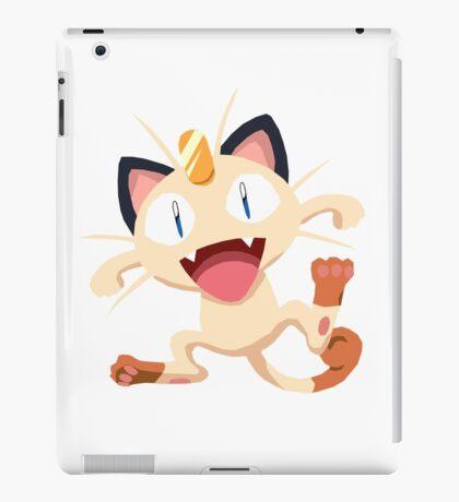 Meowth Pokemon Simple No Borders iPad Case/Skin