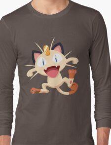 Meowth Pokemon Simple No Borders Long Sleeve T-Shirt
