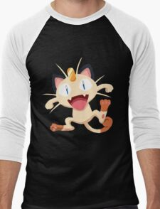 Meowth Pokemon Simple No Borders Men's Baseball ¾ T-Shirt