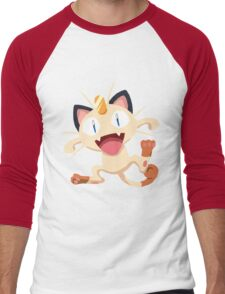 Meowth Pokemon Simple No Borders Men's Baseball ¾ T-Shirt