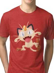 Meowth Pokemon Simple No Borders Tri-blend T-Shirt