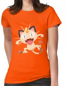 Meowth Pokemon Simple No Borders Womens Fitted T-Shirt