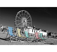 Beside the seaside, beside the sea Photographic Print