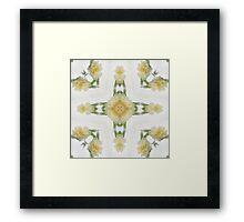Creamy Yellow Rose Kaleidoscope Art 6 Framed Print