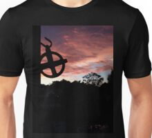 Connecticut Sunset - Country clothesline at dusk - original photography Unisex T-Shirt