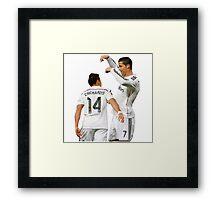 Cristiano and Chicharito  Framed Print