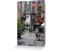 Quaint Street Corner Greeting Card