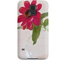 Single Pink Zinnia Blossom Samsung Galaxy Case/Skin