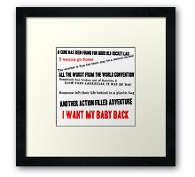 ELO - Here Is The News Framed Print