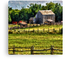 Country Fences Canvas Print