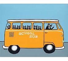 Cats on the School Bus Photographic Print