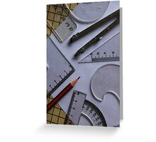 Shapes and Angles Greeting Card