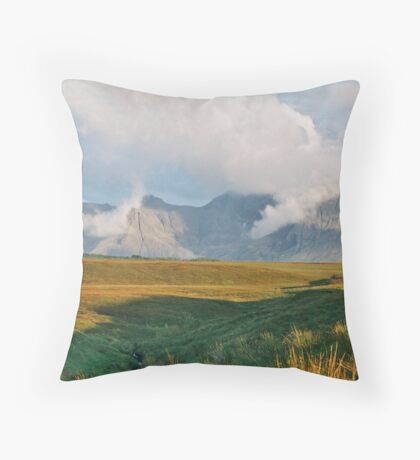 The Black Cuillin 2 Throw Pillow