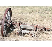 Antique Farm Wagon Wheel & Hub Photographic Print