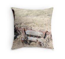 Antique Farm Wagon Wheel & Hub Throw Pillow