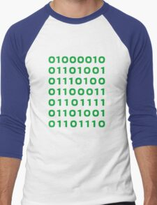 Bitcoin binary Men's Baseball ¾ T-Shirt