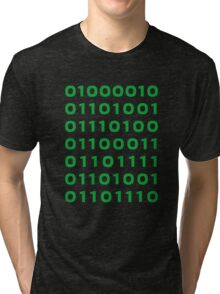 Bitcoin binary Tri-blend T-Shirt