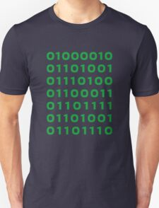 Bitcoin binary Unisex T-Shirt