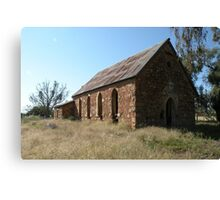 Abandoned church, Goolagong, N.S.W. Canvas Print