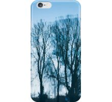 Blue trees sadness iPhone Case/Skin