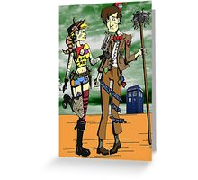 The Doctor Meets Tank Girl Greeting Card