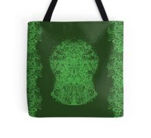 Fractal Forest Green Knight Tote Bag