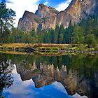 Fall Reflection Yosemite by photosbyflood