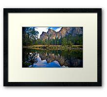 Fall Reflection Yosemite Framed Print