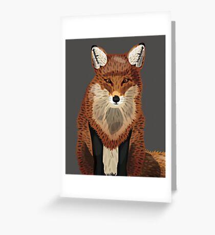 Artistic Fox Greeting Card