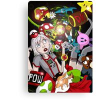 Alice In Video Land Canvas Print
