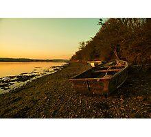 Axe estuary boat  Photographic Print
