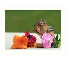 DINNER & FLOWERS Art Print