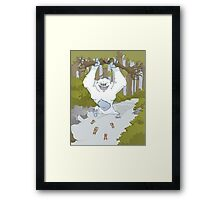 Creature Feature - The Yeti Framed Print