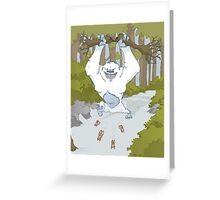 Creature Feature - The Yeti Greeting Card