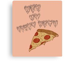 Win my ❤ Pizza Canvas Print