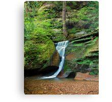 Moss Rock Falls Canvas Print