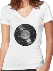 Galaxy Tunes Women's Fitted V-Neck T-Shirt