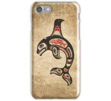 Red and Black Haida Spirit Killer Whale iPhone Case/Skin