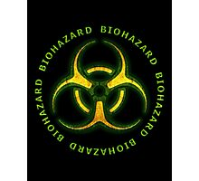 Green Biohazard Sign Photographic Print