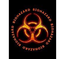 Red Biohazard Sign Photographic Print