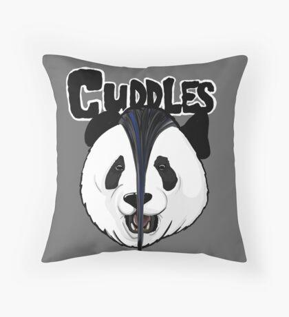 the misfits cute panda bear parody Throw Pillow